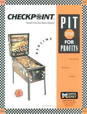 1991 DATA EAST CHECKPOINT PINBALL FLYER MINT