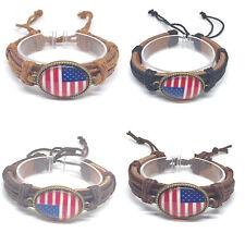 Bracelets of United States   Adjustable Pull Cords United States Flag Bracelets