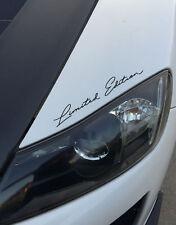 "2x Limited Edition Car Bike Decal Sticker hood windshield bumper skirt 8""-12"""