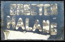 DUTCH INDIES~Indonesia~Java~ 1914 GROETEN uit MALANG ~ LARGE LETTER ~ RPPC