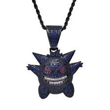 lolita cartoon fantasy magica Crescent imitation gem charm necklace【J1C4004】