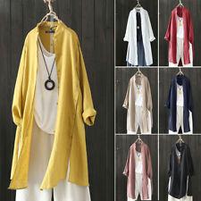 ZANZEA Womens Summer Long Sleeve Baggy Tunic Tops Blouse Sunblock Coat Cardigans