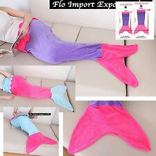 Coperta Coda Sirena Pile Bambina Donna Plaid Mermaid Tail Fleece Blanket TAIBL03
