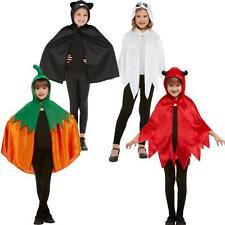 Kids Girls Boys Halloween Poncho Cape with Hood Easy Fancy Dress Cloak Unisex