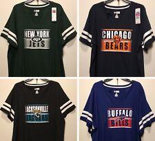 1b488a335 New NFL Women s Plus Size T-shirt Ladies Football Tee Shirt Big Size 1X 2X