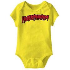Infant Baby Wrestling Hulkamania Hulk Hogan Logo Yellow Snapsuit Romper