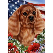 Cavalier King Charles Spaniel Ruby Patriotic Flag