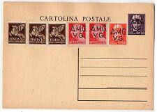 1945 AMGVG INTERO POSTALE 50 CENTESIMI+COMPLEMENTARI A/9198