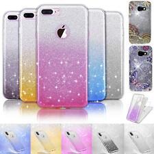De silicona, móvil, funda protectora, protección TPU cover brillo case cáscara bolso bling Glitter