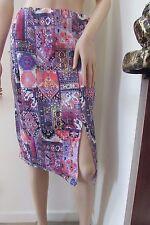 ASOS Scuba Pencil Skirt In Aztec Print 14 Multi