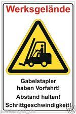 Placa Advertencia vo Camiones industriales Carretilla elevadora tener