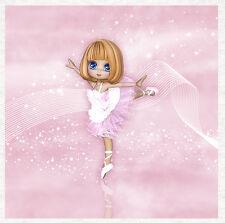 Danseur de ballet, ballerine Paink-recouvert de tissu Craft Quilting Panel