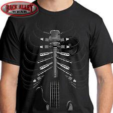 AMPED UP T-SHIRT Tee ~ Musician ~ Guitarist Singer Guitar Speaker Rib Cage Cords