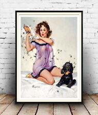 Gil Elvgren Pin Up Art (8): Vintage Magazine d'Art, Poster Reproduction.