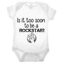 Is It Too Soon Rockstar Short Sleeve Babygrow Music Rock and Roll Clothing