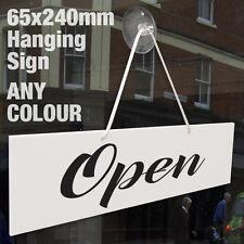 OPEN & CLOSED 3MM RIGID HANGING SIGN, SHOP WINDOW DOOR - ANY COLOUR