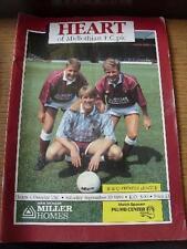 29/09/1990 Heart Of Midlothian v Dundee United  (slight marking on back cover).