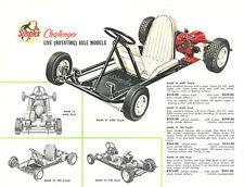 Vintage & Very Rare 1960 Simplex Challenger Mk III & Mk IV Go-Kart Brochure Page