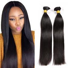8A Brazilian Virgin Human Hair Silky Straight Bulk Hair For Braiding Extensions