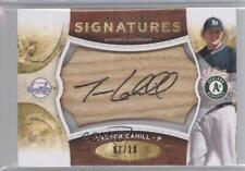 2009 Sweet Spot Signatures Brown Bat Black Ink/10 #S-Tc Trevor Cahill Auto Card