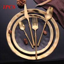 Home Gold Fork Spoon Dinnerware Cutlery Stainless Steel Tableware Set Western