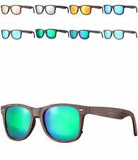 caripe Sonnenbrille verspiegelt Damen Herren Vintage Retro Holz Optik 80er LS535