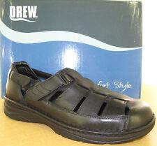 d95dfec1492 Drew Springfield Mens Orthopedic Sandals - 4914 Black Calf - 4E   6E