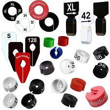 Hochwertige Größenkennzeichnungen nach Wahl für Kleiderbügel und Kleiderstangen