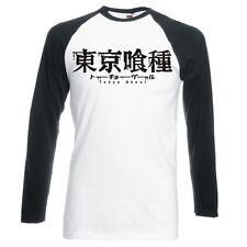 "TOKYO GHOUL ""LOGO"" UNISEX, RAGLAN, LONGSLEEVE BASEBALL T-SHIRT"