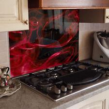 KÜCHENRÜCKWAND Spritzschutz Küche Gehärtetes Glas Vektor Abstraktion rot