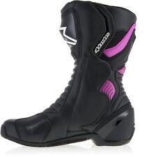 New Alpinestars Stella SMX S-MX 6 V2 Ladies Black / Pink Boots - Pink