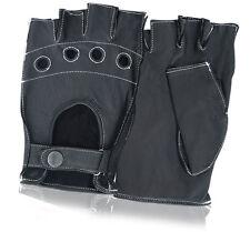 Qualité premium en cuir mitaines chauffeur robe conduite gants moto vélo