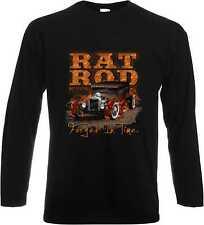 Maniche lunghe/Camicia A Maniche Lunghe con Auto Sportiva Rockabilly