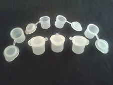 10 - 500  x  3.5 ml hinged lid snap shut paint pots  hobby  / craft  /  children