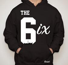 The 6ix Hoodie by 6ixset Black & White - Toronto Drake 6ix 416 Raptors OVO OVOXO