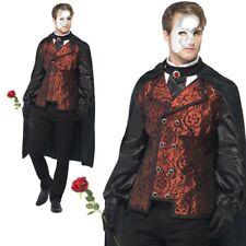 El fantasma de la Ópera Masquerade Disfraz de Halloween vestido elegante adultos para hombre