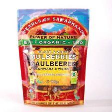 Pearls of Samarkand Organic Black and White Mulberries 100g