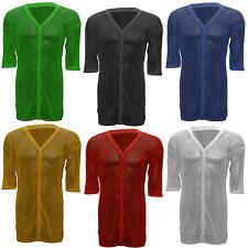 Unisex Half Sleeve String Crotchet Cardigan AMIR Premium 100% Cotton Mesh Top