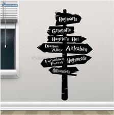 Harry Potter DIY Wall Decal Hogwarts Road Sign Vinyl Sticker Home Movie Decor