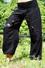 Warm Harem Hippie Pants Black Yoga Festival Loose Boho Gypsy Comfy Winter Soft