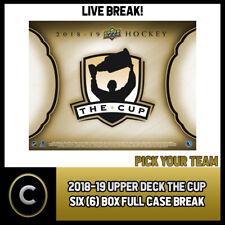 2018-19 UPPER DECK THE CUP 6 BOX (FULL CASE) BREAK #H524 - PICK YOUR TEAM -