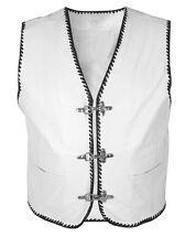 LEDERWESTE BIKER Weiß KUTTE gilet en cuir Vest CHOPPER WEIßES LEDER WESTE