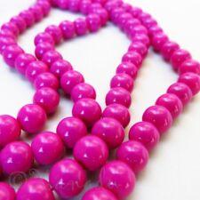 Fuchsia Hot Pink Wholesale 8mm Round Glass Beads G1751 - 50, 100 or 200PCs
