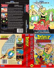 Asterix y el gran rescate Sega megadrive caja de sustitución Arte caso inserto