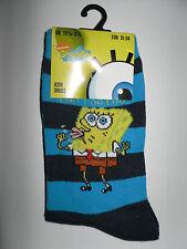 Spongebob*Socken/Strümpfe* 23-26/27-30 *Blautöne gestreift * Neu (T48)
