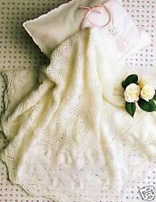 Baby Knitted 3ply Circular shawl- Vintage knitting pattern
