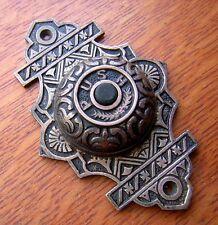 New Fancy Cast Brass Victorian Doorbell Button