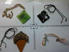 collana e ciondolo MURRINE MURANO o VETRO italy  artigianale vintage necklace b9