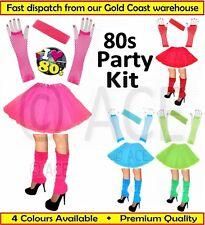 Womens Ladies Ballet Costume Party Set 80s Dance Gloves Tutu Skirt Leg Warmers