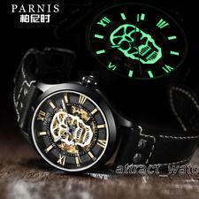 42mm Parnis Luminous Skull Miyota Automatic Sapphire 5 ATM Men's Luxury Watch